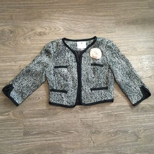 One of a kind Audrey Hepburn Tweed Crop Jacket